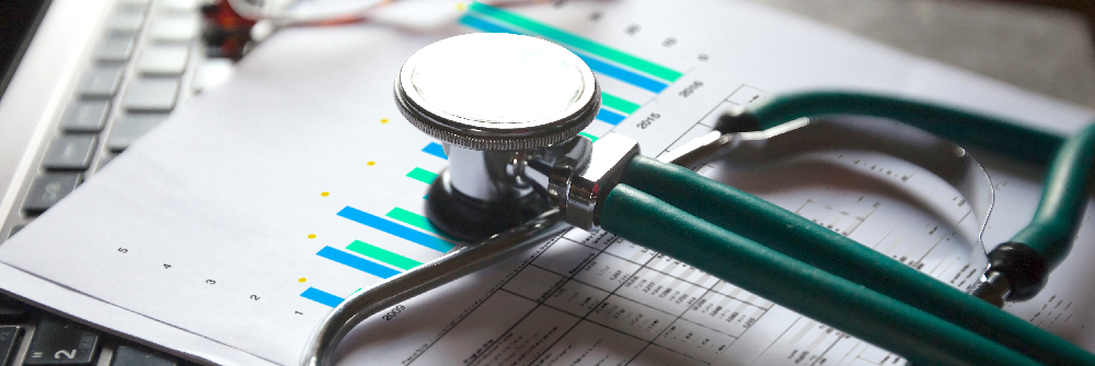 A stethoscope on some paperwork