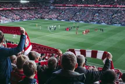 A football crowd